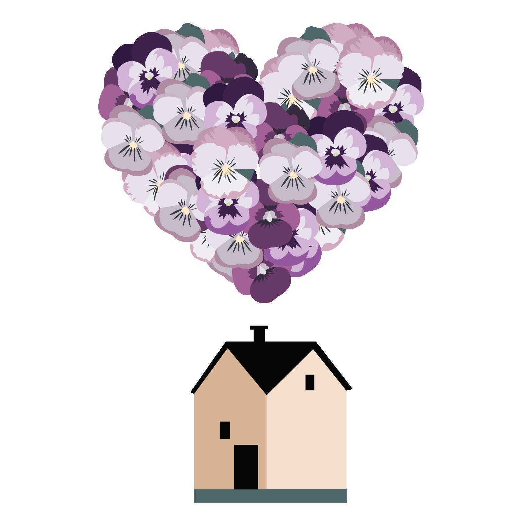 illustrazione viola fiore